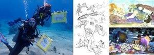 Dive Draw 2022 Cozumel Living Sea Sculpture 1024x368 copy 2